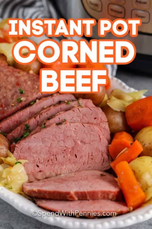 This Instant Pot Corned Beef is quick to prepare and so full of juicy flavors!