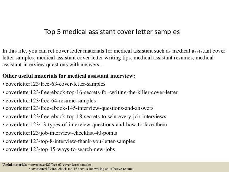 Examples Of Cover Letters For Medical Assistants Medical - medical assistant thank you letter