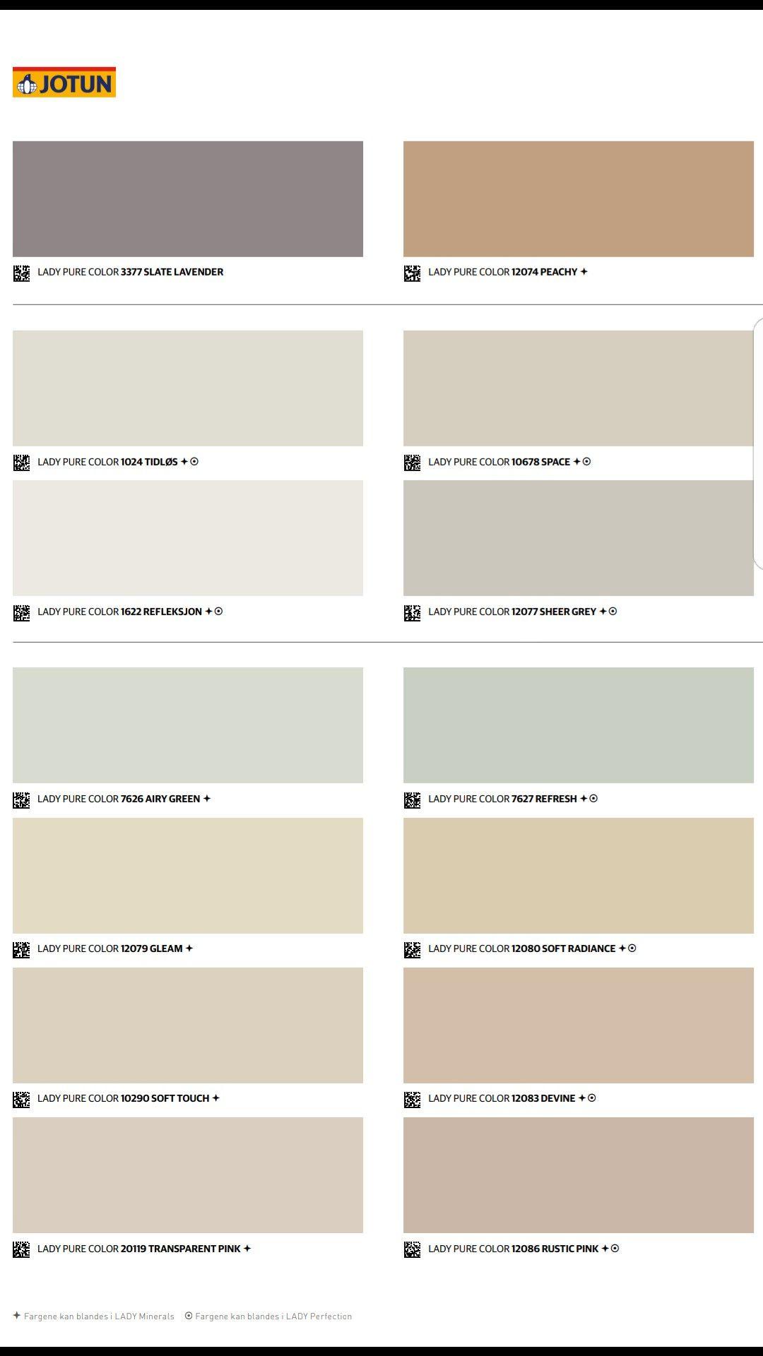 Se hva interiørbransjen mener om det nye fargekartet