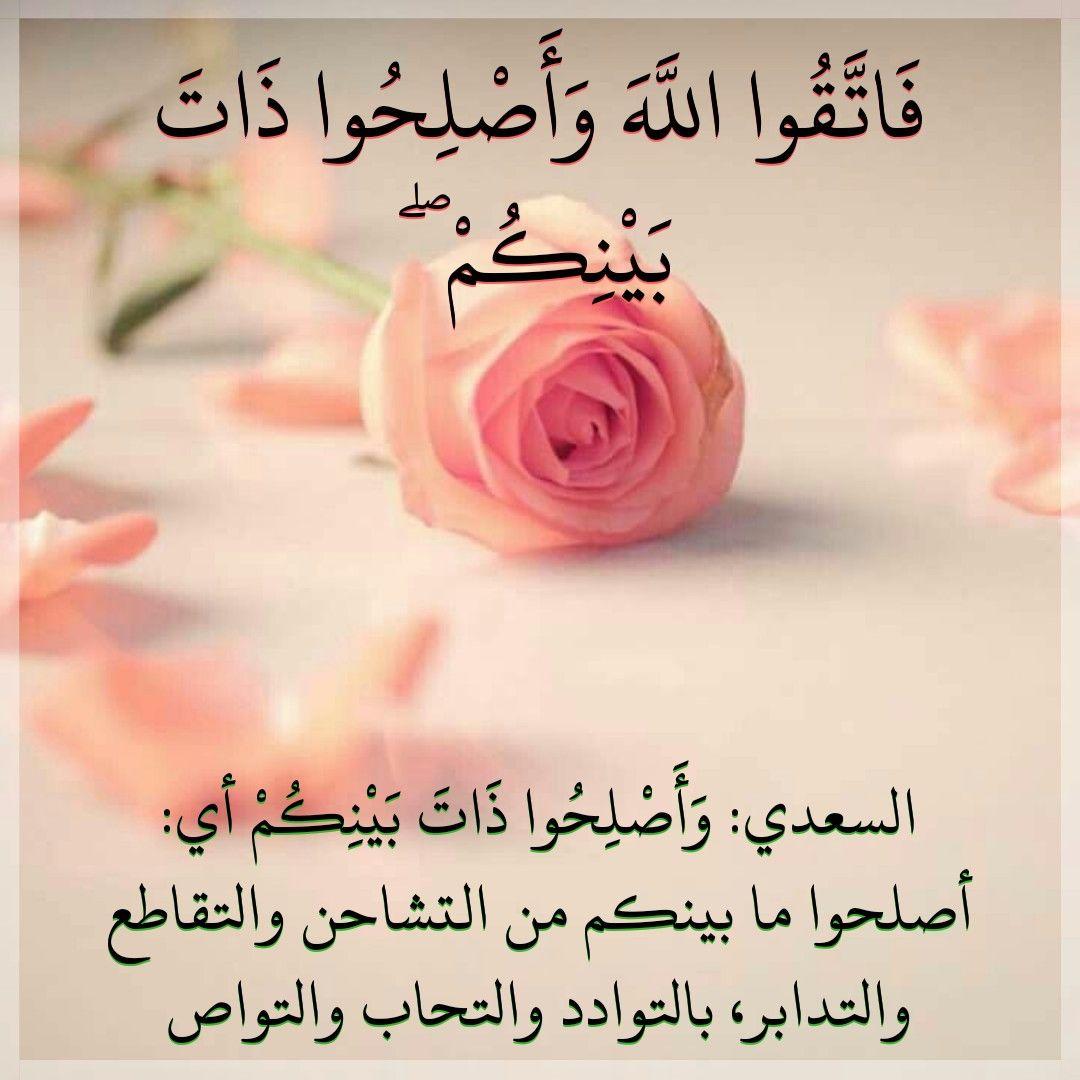 قرآن كريم آية عن إصلاح ذات البين Place Card Holders Allah Card Holder