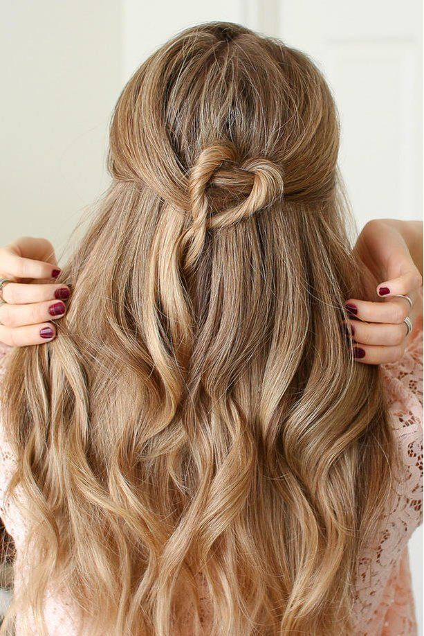 Beautiful Prom Hairstyles That'll Steal the Show: Twisted Heart Half Up