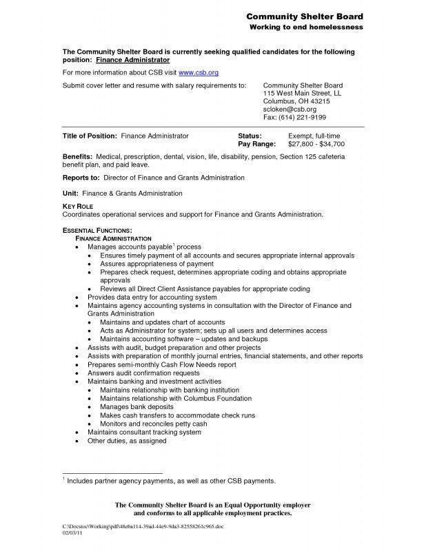 Finance Administrator Sample Resume] Example Financial ...