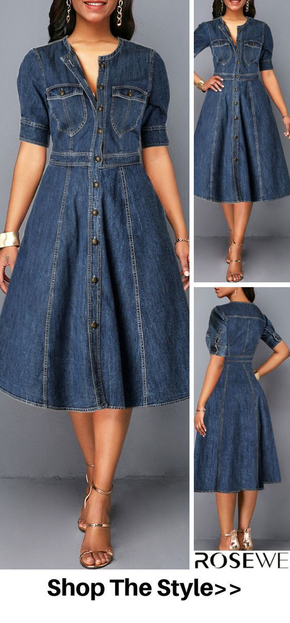 Nice vintage style dress from denim