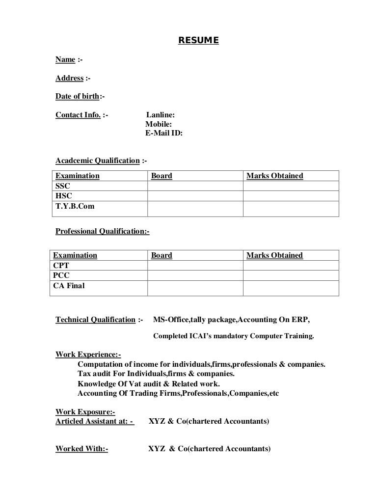 how to create a resume format cvresumeunicloudpl - Format For Making A Resume