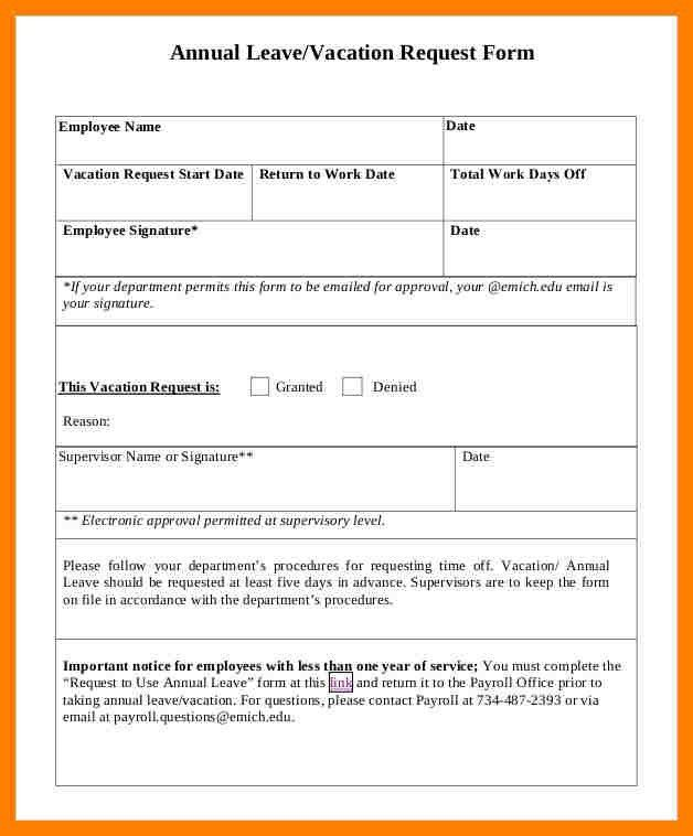 ... Leave Request Form Sample Sample Leave Request Form 8 Examples In   Day Off  Request Form ...