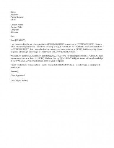 General Cover Letter Examples For Resume - Examples Of Resumes
