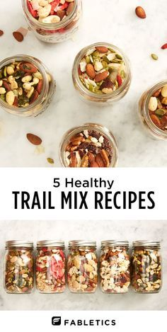 Feeling like a healthy snack but don't know what you're in the mood for? Check out these 5 healthy trail mix recipes perfect for any craving.