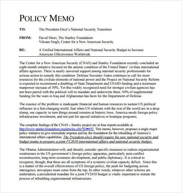 Policy Memo Template policy memo format resume name sample – Policy Memo Template