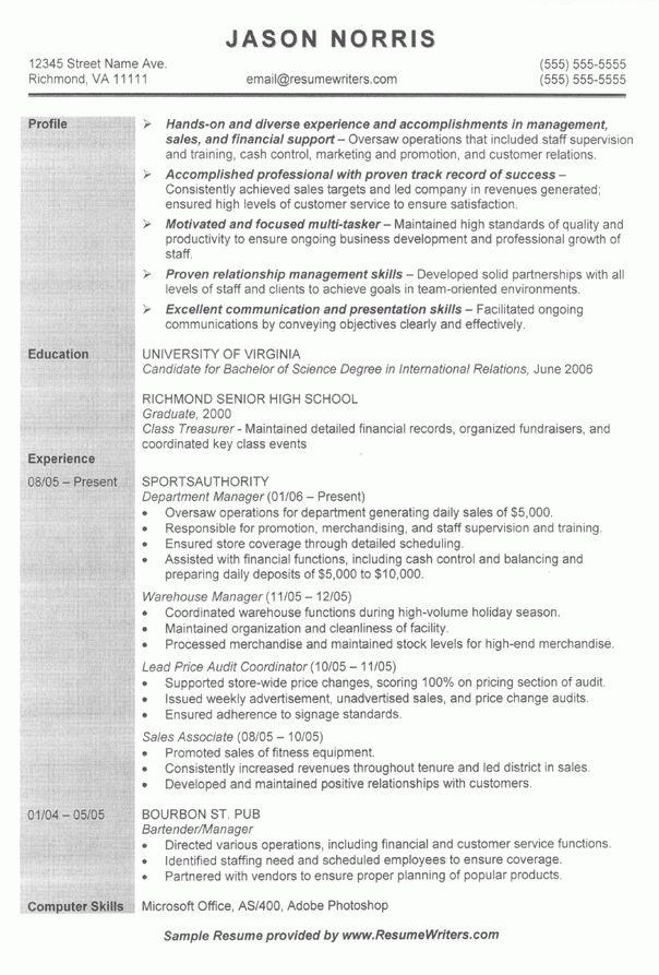 Grad School Resume Example Sample Resume For Graduate School - examples of graduate school resumes