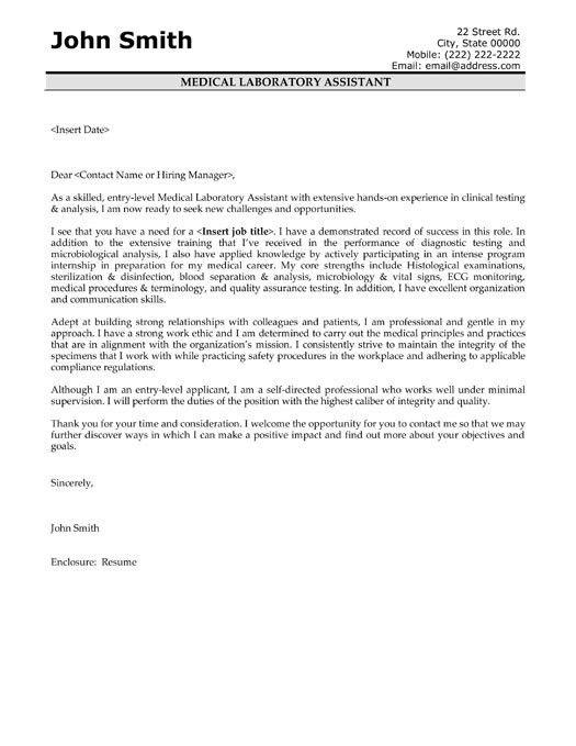 Medical Assistant Cover Letter Sample  Medical Assistant Cover Letter Samples