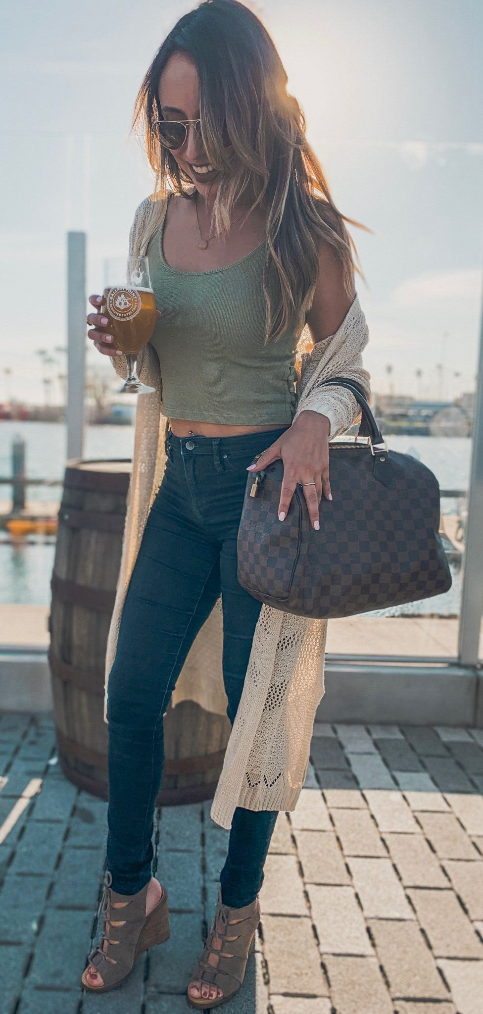 gray camisole #spring #outfits
