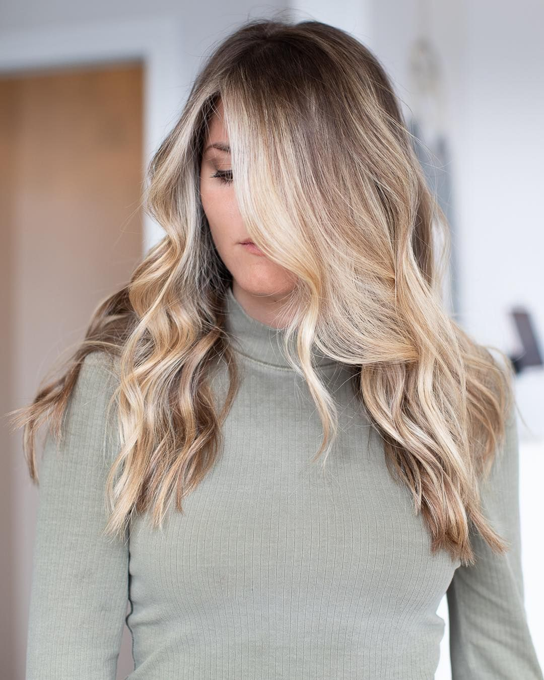 "Laci | atlanta balayage on Instagram: ""💫S U N K I S S E D 💫 With soft layers… Love a purposeful rooty look. I painted her highlites, while keeping her natural root color using…"""