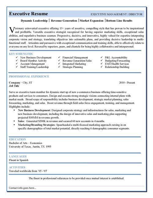 Best Executive Resume Format Executive Resume Example Telecom - senior executive resume