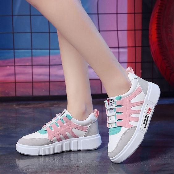 New Arrival Chic White Sneaker Shoes – Abershoes