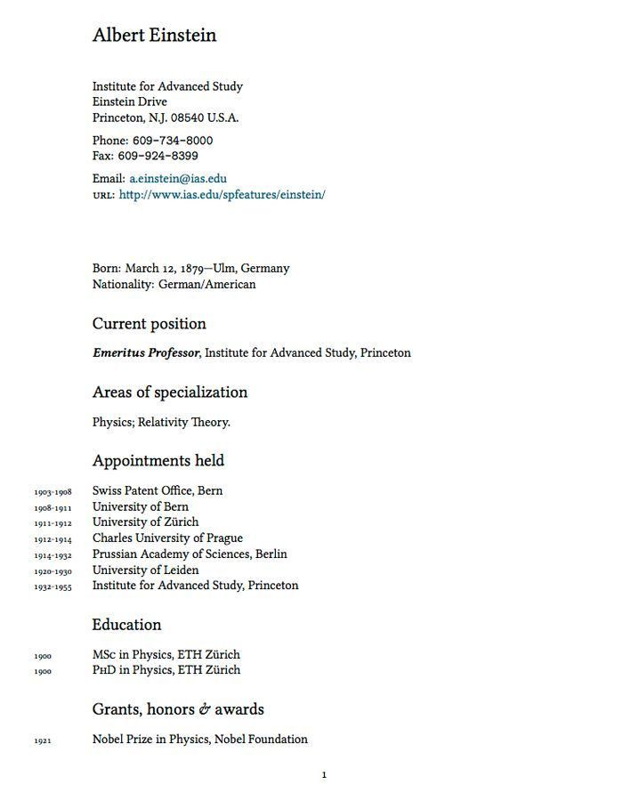 latex template for resume