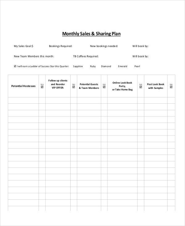 Sample Of Sales Plan Sample Sales Plan Template 17 Free Documents - sales plan example