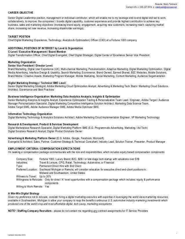 brand manager resume 46 professional marketing resume free