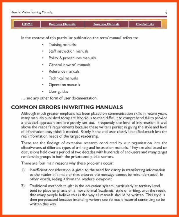 Reference Manual Template Opening A Sample Project From The - staff manual template