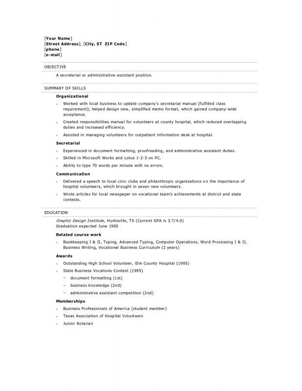 Sample High School Graduate Resume High School Student Resume - examples of resumes for high school students