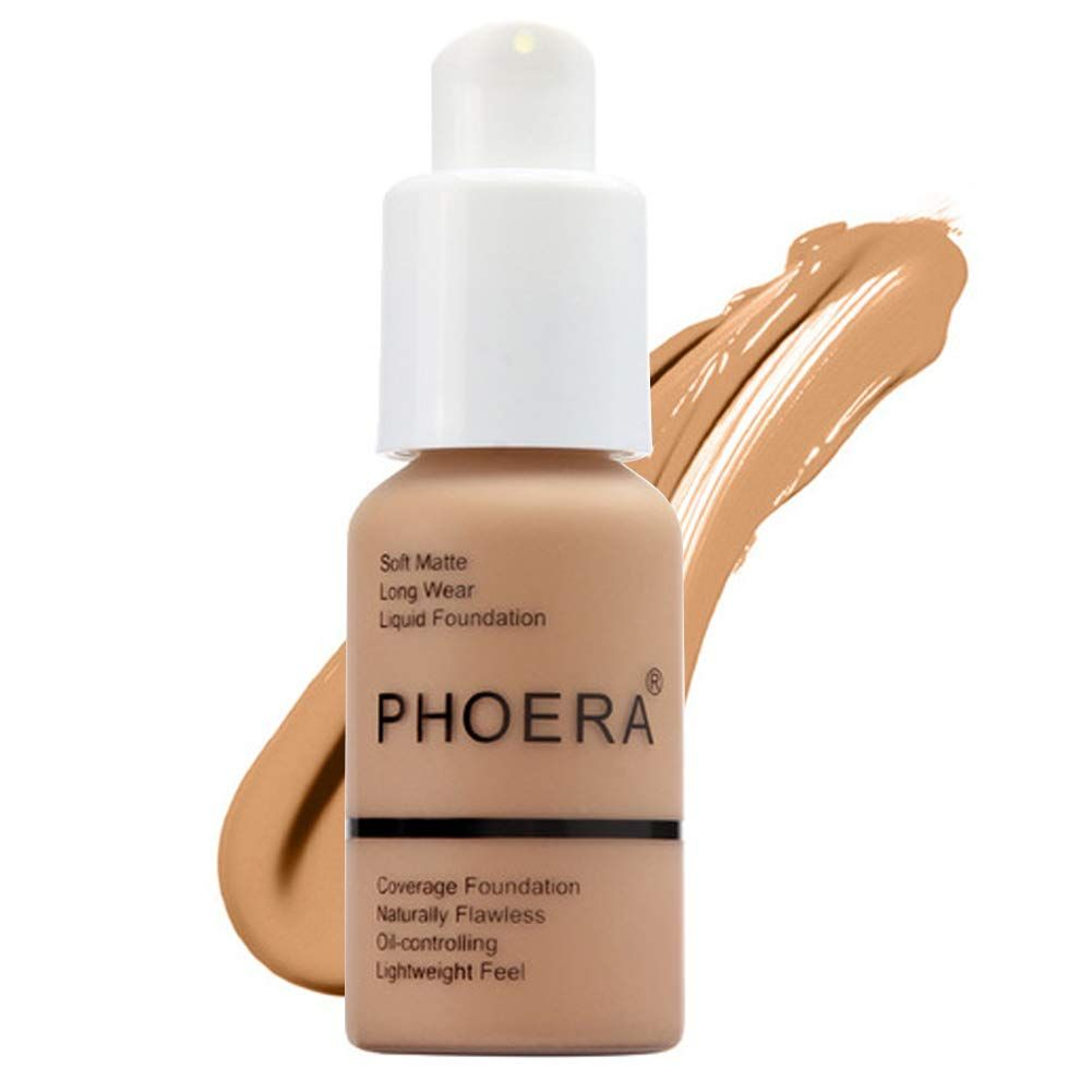 STYLECASTER | best foundation | foundation for dry skin | foundation for eczema | full-coverage foundation | drugstore foundation | natural foundation | flawless foundation | moisturizing foundation |  makeup looks | makeup ideas | Phoera matte foundation amazon