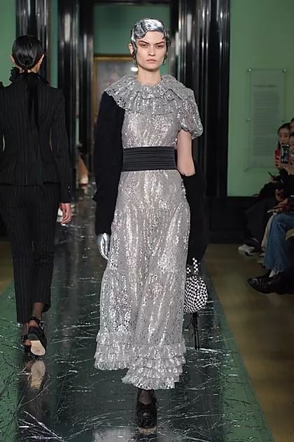 PROPORTION TALKS   Inspiring VM Trends From LFW AW20 - Erdem, silver-inspired collection inspired by a new Cecil Beaton show at the National Portrait Gallery