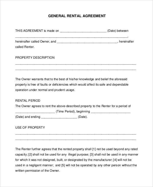 Printable Rental Agreement Forms Free Rental Forms To Print Free - printable rental agreements