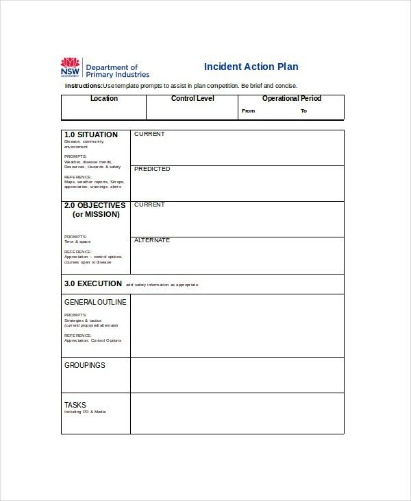 Action Plan Template Free Action Plan Template 110 Free Word - incident action plan