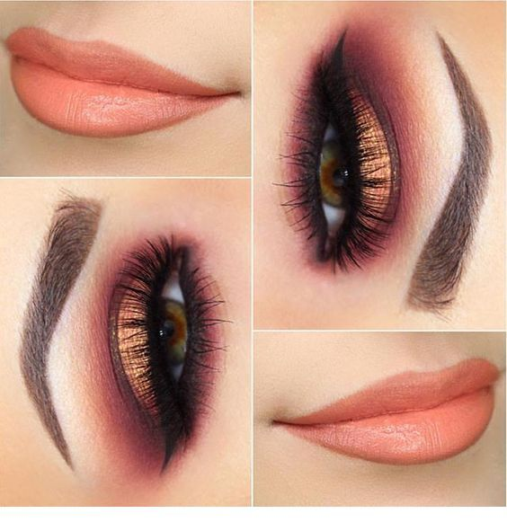 I love this light orange makeup inspiration