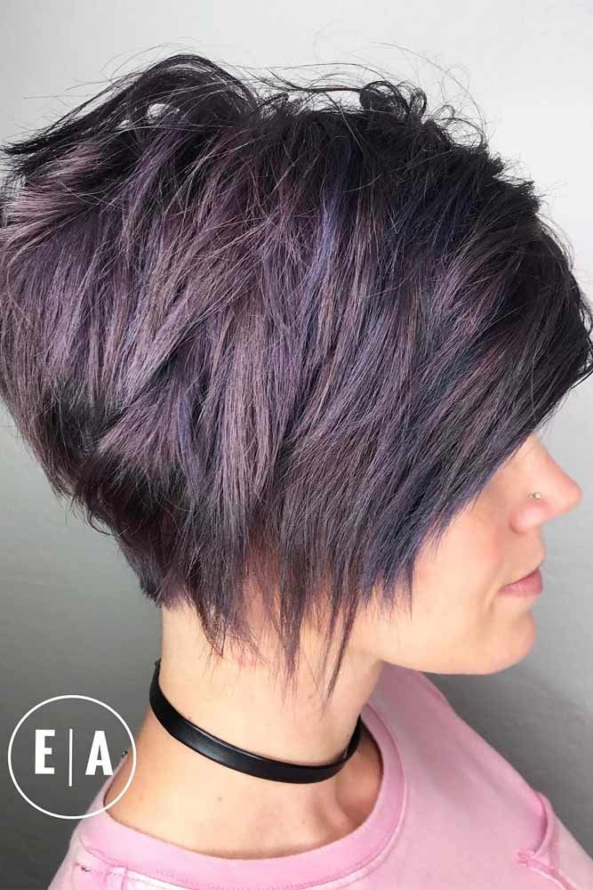 Short Haircuts For Thick Hair #layeredhairstyles  #shorthairstyles ★ Short bob haircuts are quite versatile and can compliment almost everyone. Our photo gallery will give you some inspo and help pick your next cut. #glaminati #lifestyle #shortbobhaircuts