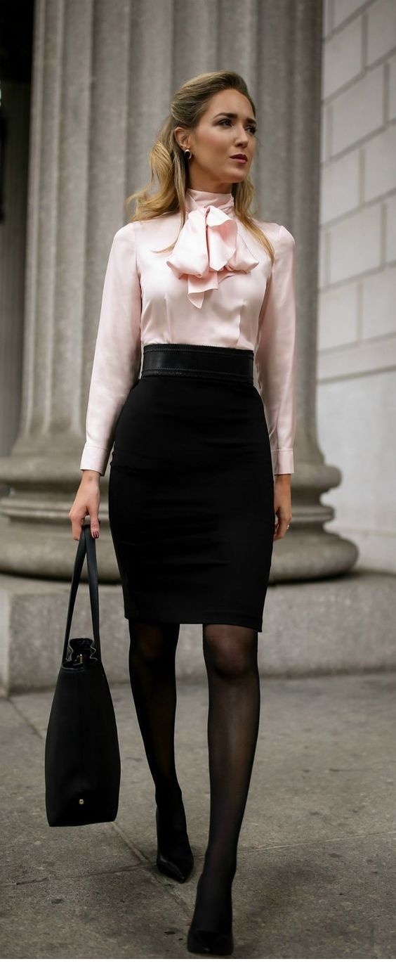 Awesome shirt with a black skirt