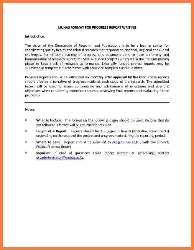 Project Report Writing Template 14 Templates Free