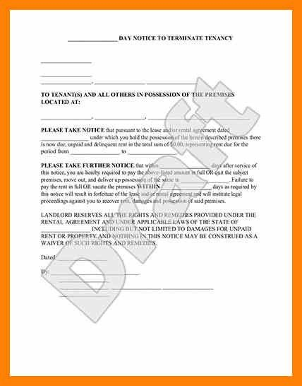 Eviction Notice Template 45 Eviction Notice Templates Lease - eviction notice template