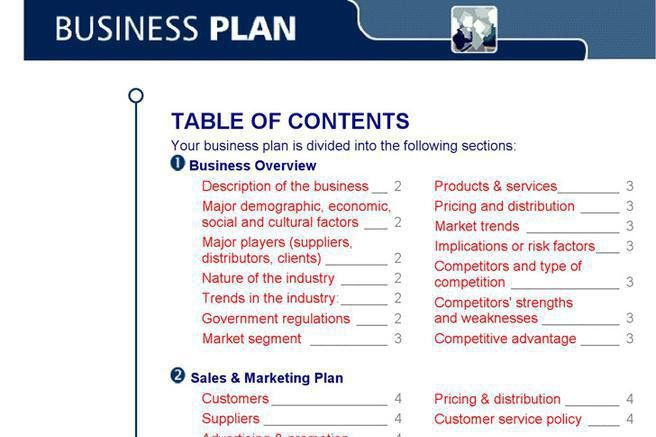 Business Plans Templates Business Plan Template Free Download - service plan templates