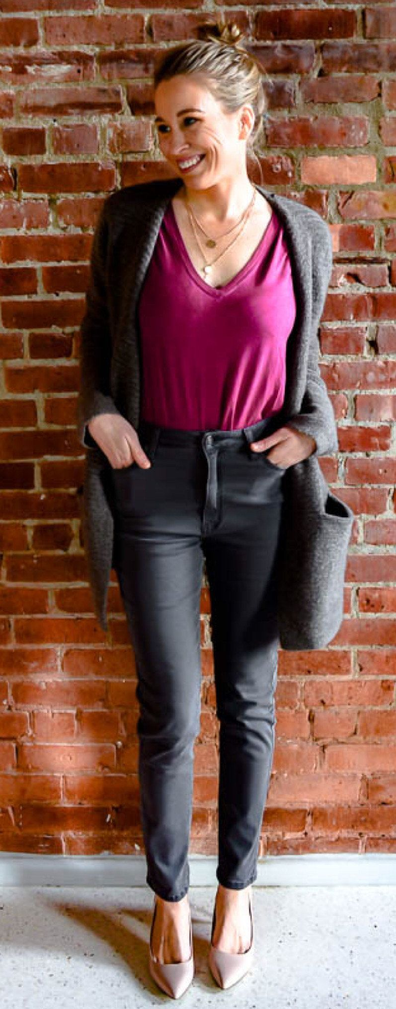 black pants #spring #outfits