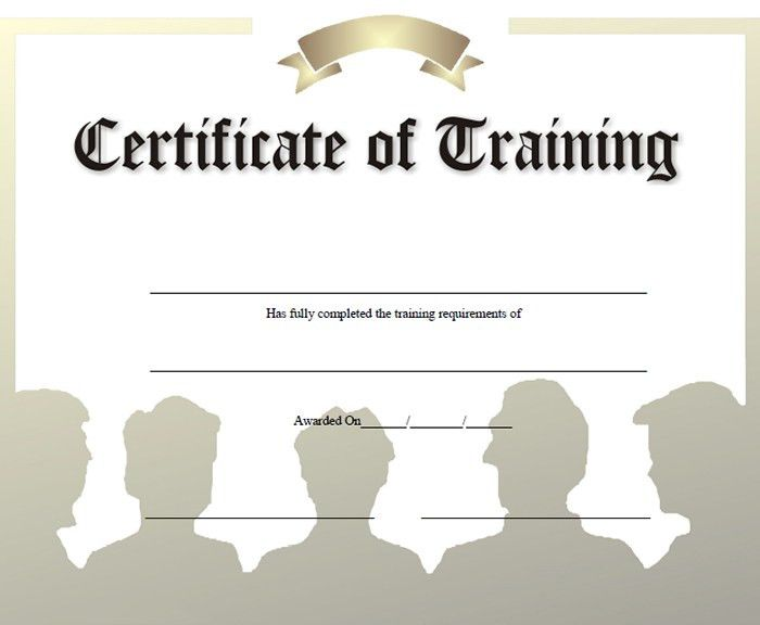 Certificate Of Completion Of Training Template Training - free training certificates
