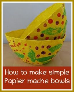 Simple Easter papier mache gift bowls