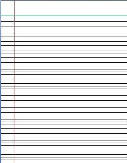 Printing Paper Template Printable Lined Paper, Sample Lined Paper - sample lined paper