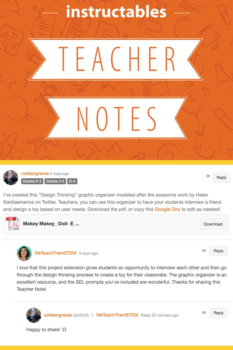 Introducing new Teacher Notes on Instructables! Educators, please use these to show us and other teachers how you use Instructables in the classroom and share your lesson plans. #Instructables #education #students #resources