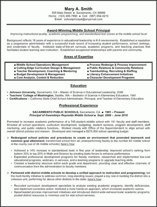 Early Childhood Education Resume Samples Click Here To Download School Principal  Resume  Principal Resume