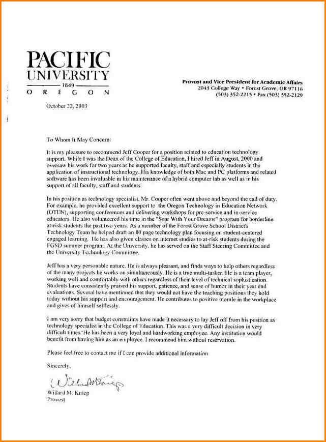 Reference Letter For Staff Best 25 Employee Recommendation Letter - college recommendation letter