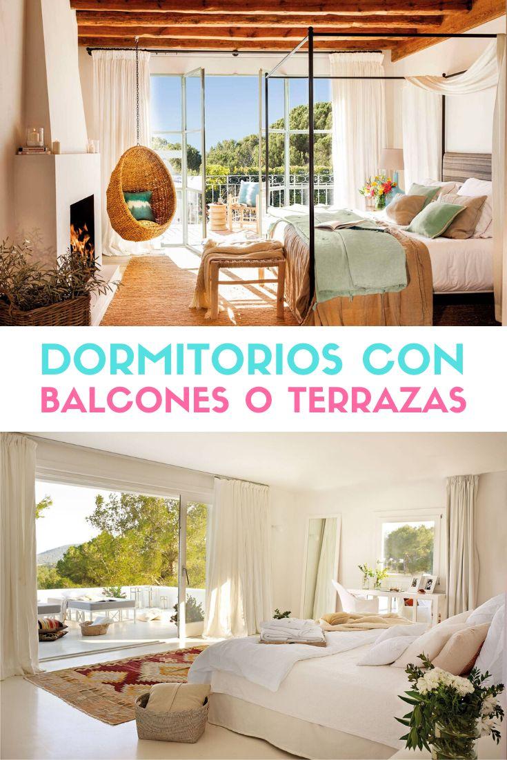 Dormitorios con terraza o balcón