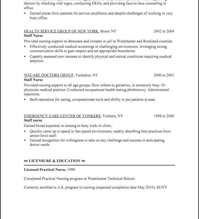 sample lpn resume lpn resume sample and get inspired to make your