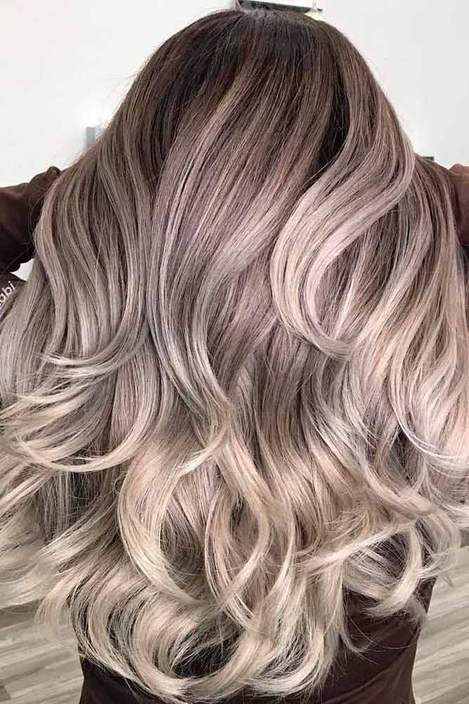 Ash Blonde Ombre Layered Hairstyles #ashhair #ombrehairstyles ★ Explore trendy long haircuts with layers for women. We have ideas for wavy, straight, thin and for thick hair. #glaminati #lifestyle #longhaircuts