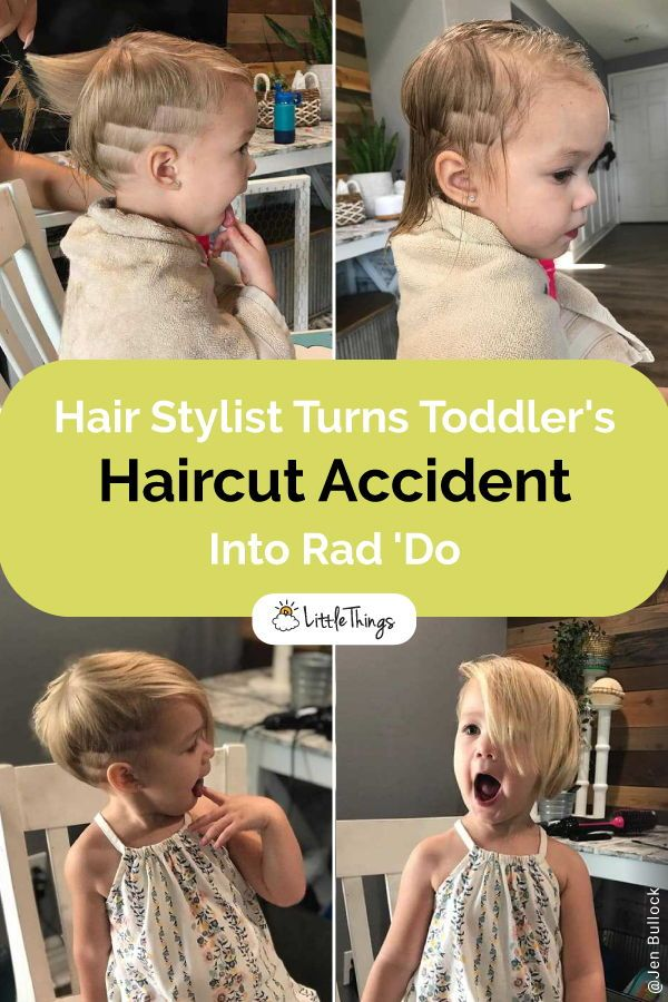 Hair Stylist Turns Toddler's Haircut Accident Into Rad 'Do: A look into one hairstylist's professional skills in turning one toddler's unfortunate haircut accident into not only something way better, but also something that seems to fit her perfectly. #hair #kidshaircut #hairstyle #haircutideas #kidshairstyles