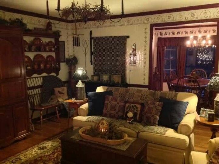 1000 Images About Keeping Rooms On Pinterest Primitives Colonial And Primitive Living Room