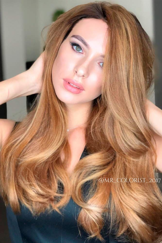 Honey Brown #longhairstyles #wavyhair ★ Brown hair is often considered to be understated, but we think it is stunning and sexy. See these 20 sultry shades of brown for summer fun in the sun! #glaminati #lifestyle #brownhair