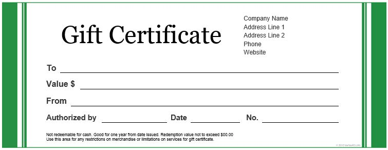Gift Certificate Samples Custom Gift Certificate Templates For - certificate sample in word