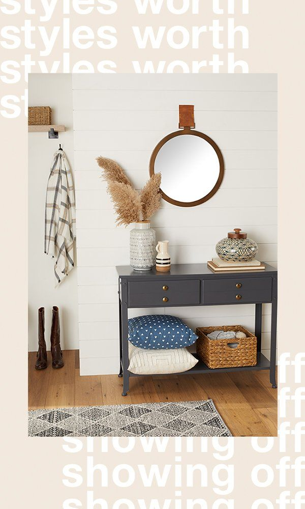 Inspire immediate organization envy when you shop Overstock's affordable entryway furniture and decor. Plus, it SHIPS FREE*! #storage #organization #storagefurniture #accentfurniture #homeorganization #homestorage #stylishstorage #homeessentials #homedesign #organization #storagefurniture #coatrack #storagebench #entryway #lighting #planters #throwpillows #baskets #mirrors