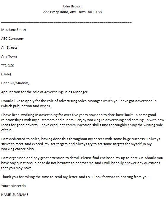 Advertising Sales Agent Cover Letter Cvresumeunicloudpl