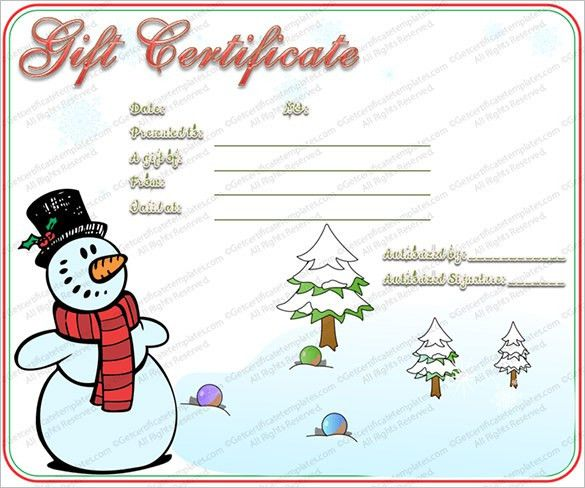 Christmas Gift Card Templates Free Christmas Voucher Templates - free printable christmas gift certificate